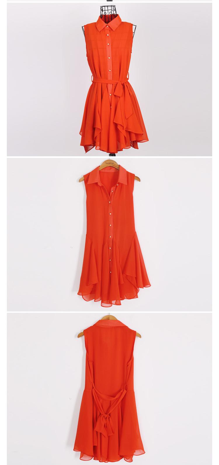 Красное платье рубашка 7