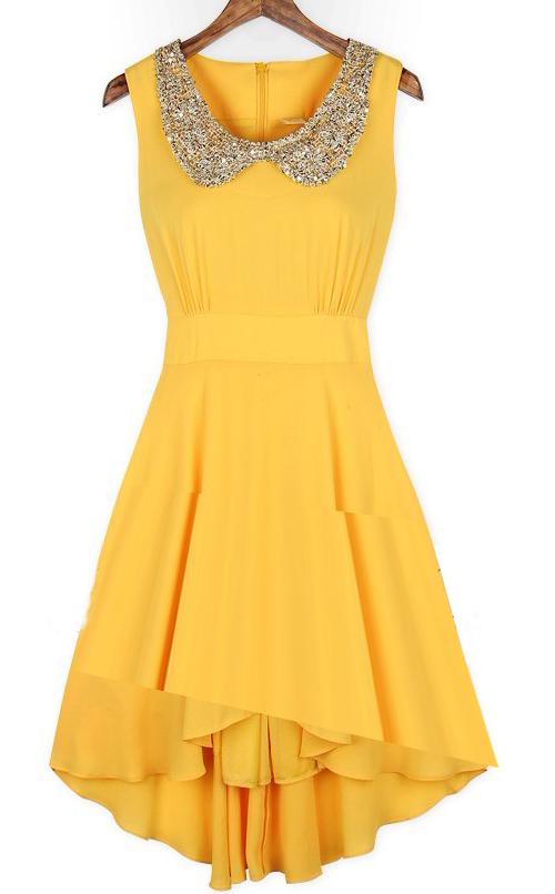 Красивые желтые платья
