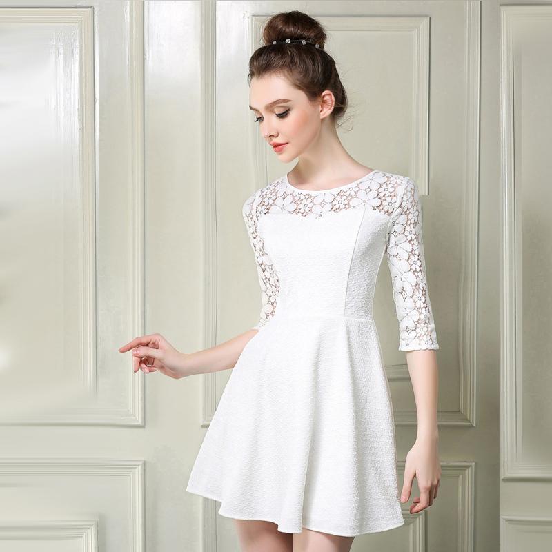 Платья повседневные белые