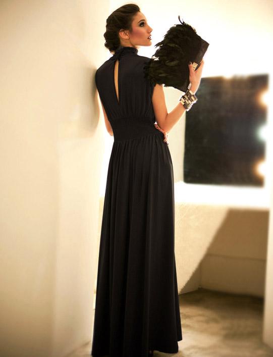 Купить Длинное Вечернее Черное Платье