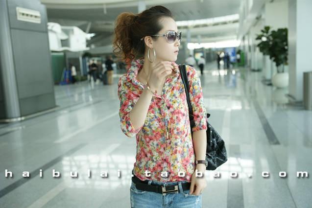 Женская рубашка в цветочек с чем носить