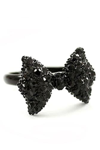 Кольцо Черный бант