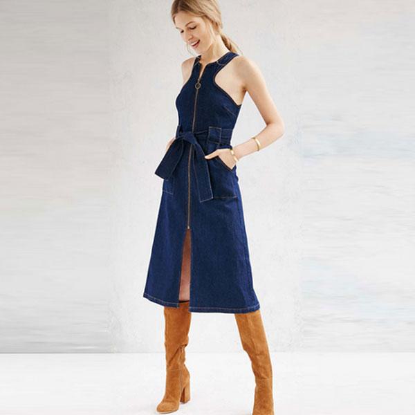 Сарафан из джинсовой ткани для женщин