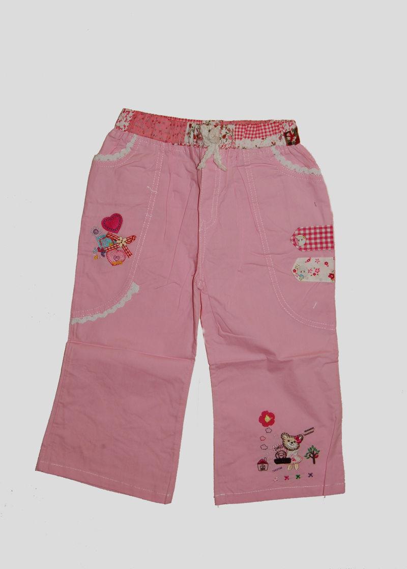 Брючки для девочки розовые с мишкой (6 лет)