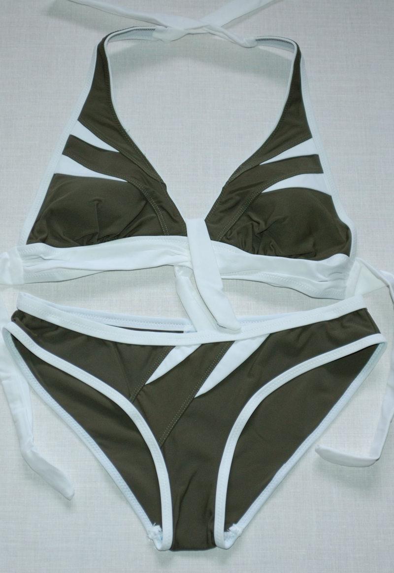 Темно-зеленый раздельный купальник р-р. 40