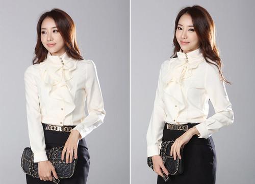 13f641a9657 Купить Белая блузка с жабо недорого. интернет магазин одежды