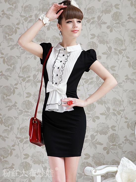 платье с ассиметричной драпировкой
