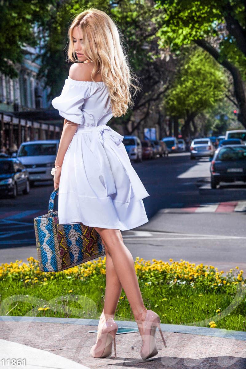 Платье летнее с открытыми плечами купить
