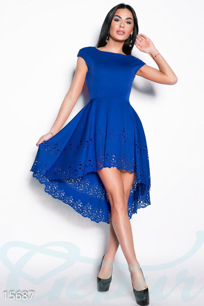 Платье с двойным подолом