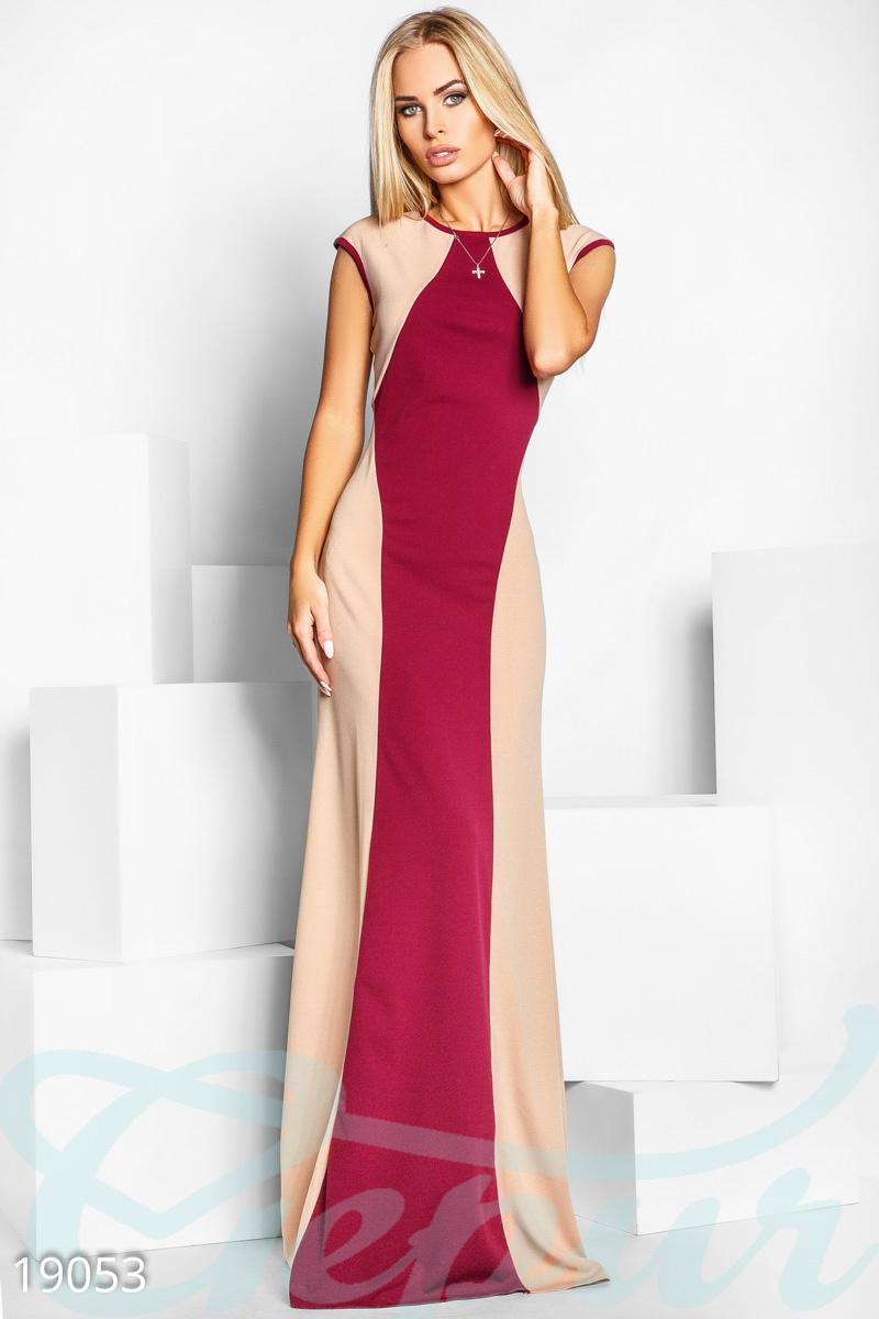 Платье двухцветное