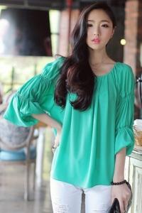 '.Блузка зеленая .'
