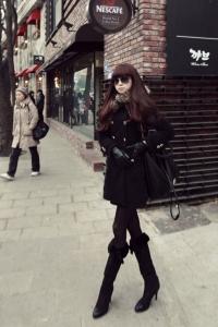 '.Пальто черное .'