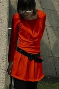'.Платье оранжевое .'