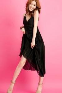 '.Черное шифоновое платье .'
