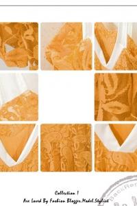 Кружевное платье с белыми шлейками