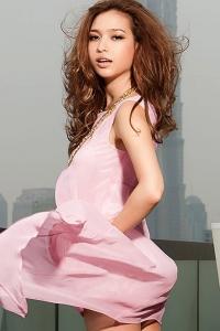 '.Воздушное розовое шифоновое платье .'