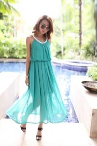 '.Платье голубое .'