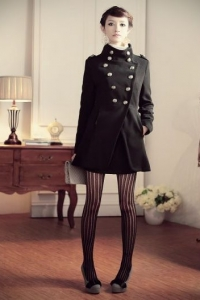 '.Пальто черное (размер S) .'