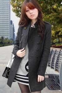 '.Пальто серое (размер M) .'