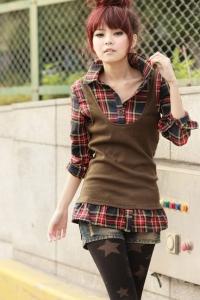 '.Рубашка-жилетка коричневая (размер L) .'