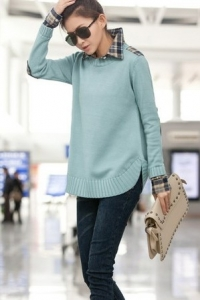 Пуловер с эффектом 2 в 1