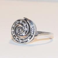 Кольцо Завиток серебро