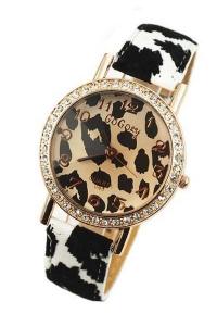 '.Часы с леопардовым принтом .'
