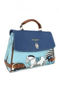 '.Синяя сумка с лошадью .'
