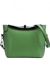 '.Зеленая сумочка через плечо .'