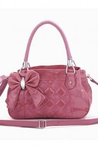'.Розовая лаковая сумка .'