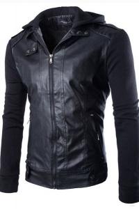 '.Мужская комбинированная куртка .'