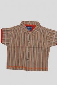 '.Рубашка для мальчика в полоску (возраст 12-18 мес) .'