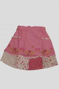 '.Юбка розовая с цветочным вышивным рисунком (4 года) .'