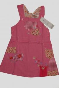 '.Платье розовое с лямками на пуговицах (2 года) .'