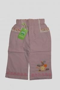 Брючки для девочки розовые с вязанным рисунком (5 лет)