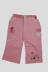 '.Брючки для девочки розовые с мишкой (2 года) .'
