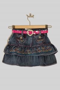 '.Юбочка джинсовая с поясом (5-6 лет) .'