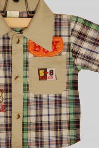 Костюм для мальчика с жирафами шорты с рубашкой (2 года)