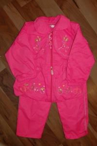 '.Костюм розовый, брючный для девочки на флисе, р-р 2 года .'