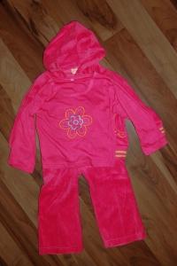 Костюм-тройка розовый для девочки, р-р 4 года