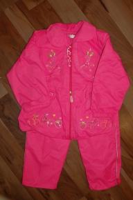 '.Костюм розовый, брючный для девочки на флисе, р-р 4 года .'