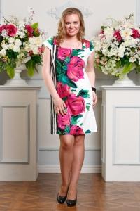 '.Платье с крупными цветами .'