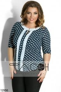 '.Блузка с контрастными вставками .'