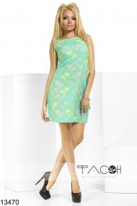 '.Платье с принтом пальмы .'