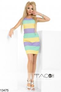 '.Платье в яркую широкую полоску .'