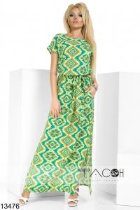 '.Длинное платье с пояском .'