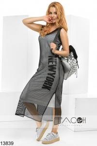 '.Платье с накидкой из сетки .'