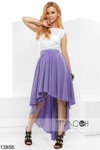 '.Коктейльное платье с асимметричной юбкой .'