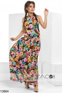 '.Цветочное платье в пол .'