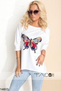 Лонгслив с бабочкой